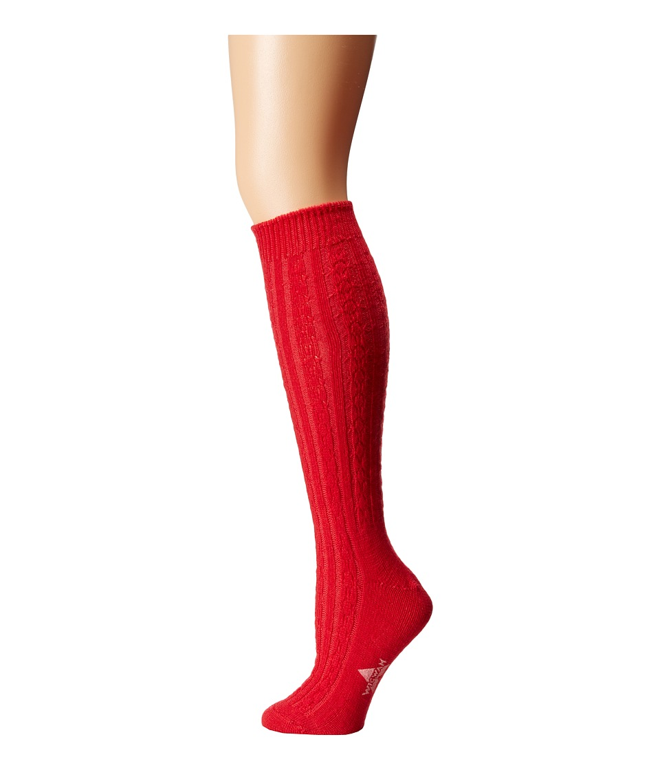 Wigwam - Cable Knee Highs Single Pack (Chili Pepper) Women's Knee High Socks Shoes