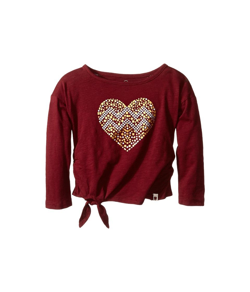 Lucky Brand Kids - Stud My Heart Tee (Toddler) (Cranberry Crush) Girl