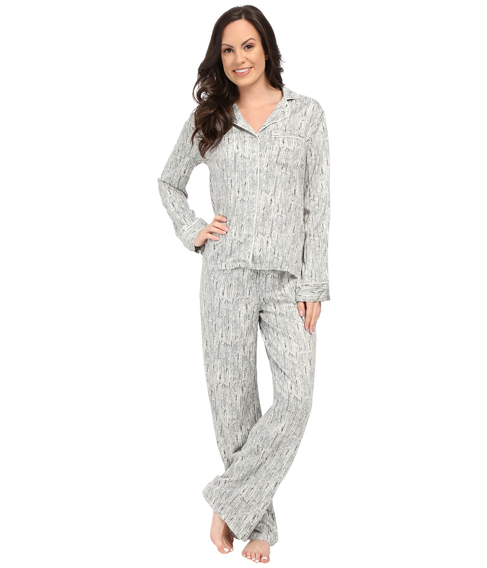Splendid - Piped PJ Set (Stretchy Herringbone) Women's Pajama Sets