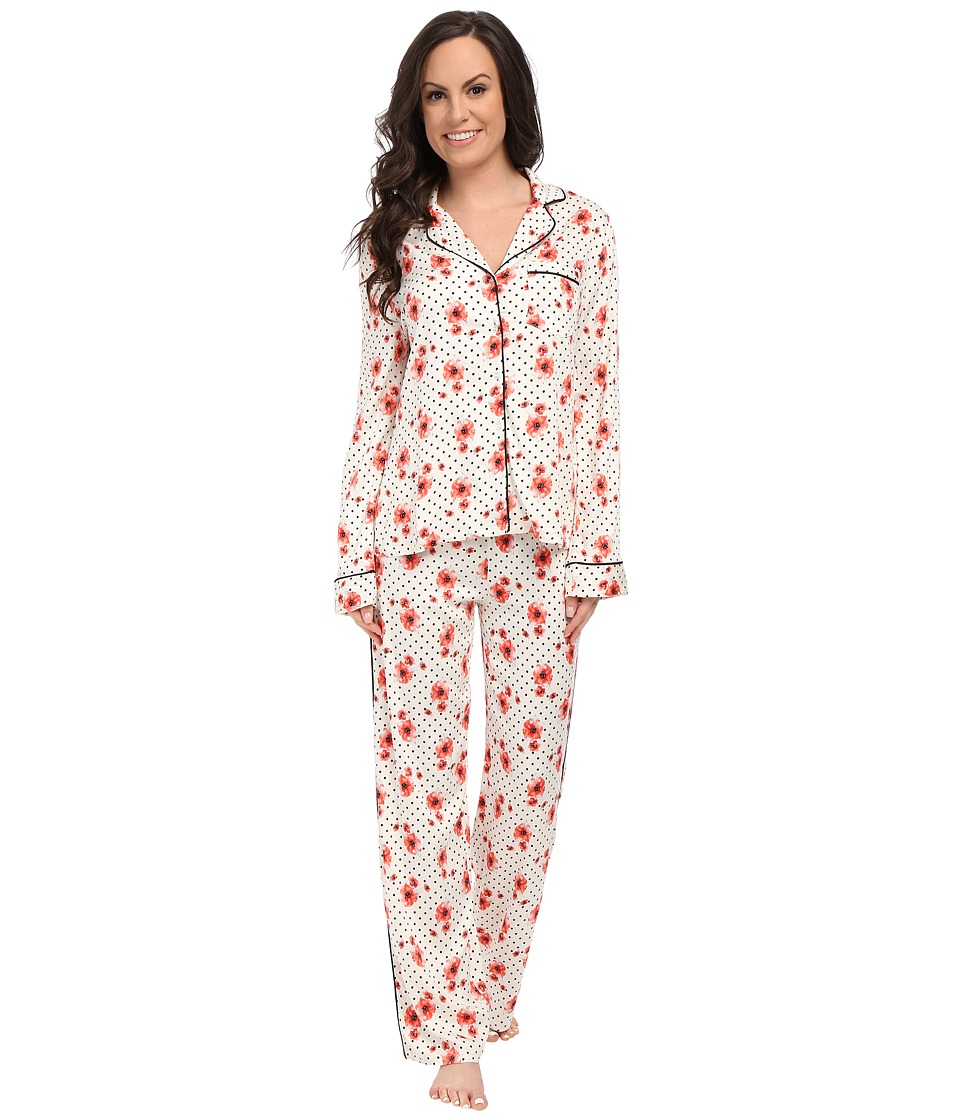 Splendid - Piped PJ Set (Poppy Party) Women's Pajama Sets