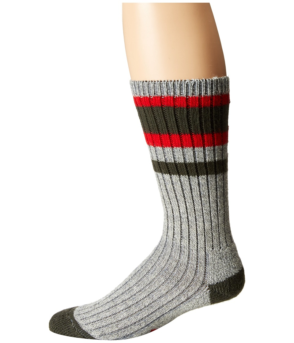 Wigwam - Lakewood Single Pack (Charcoal/Red) Crew Cut Socks Shoes