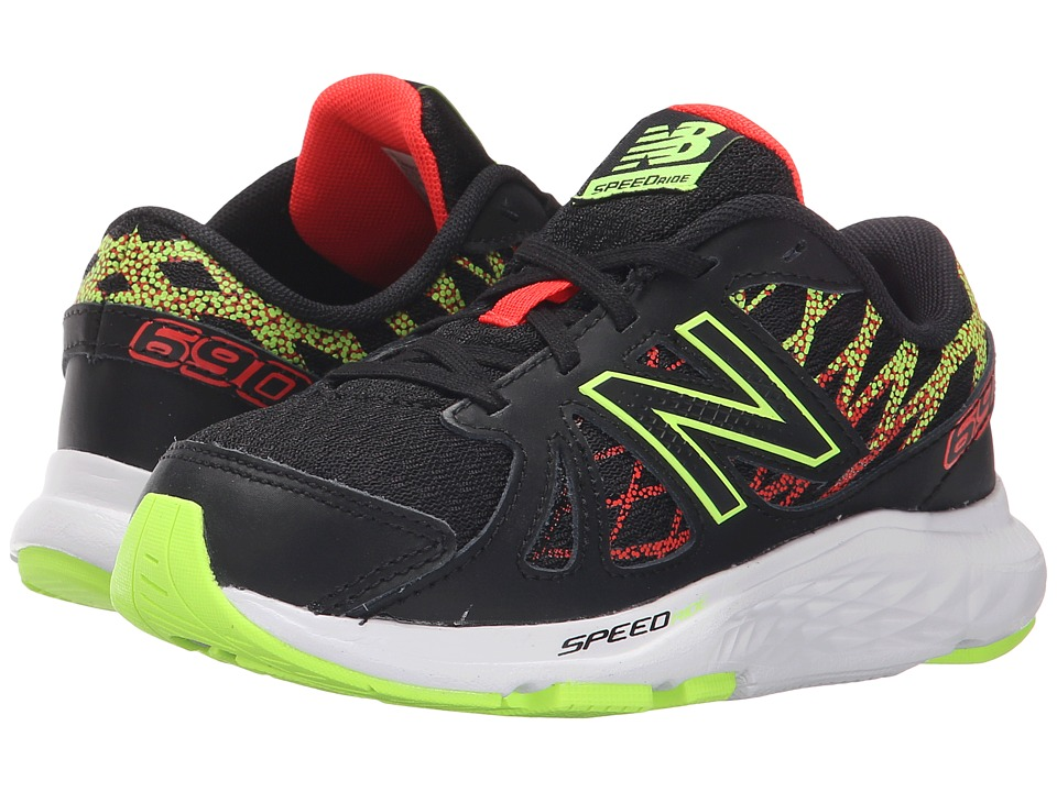 New Balance Kids 690v4 (Little Kid/Big Kid) (Black/Green) Boys Shoes
