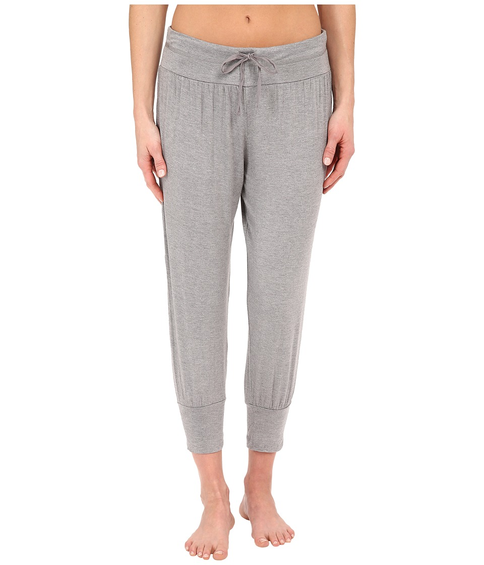 Splendid - Jogger Cropped Pants (Medium Marled Heather) Women's Pajama