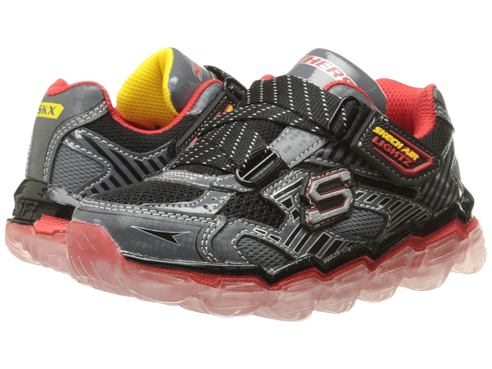 SKECHERS KIDS - Skech Air Lightz 90520N (Toddler) (Charcoal/Red) Boys Shoes