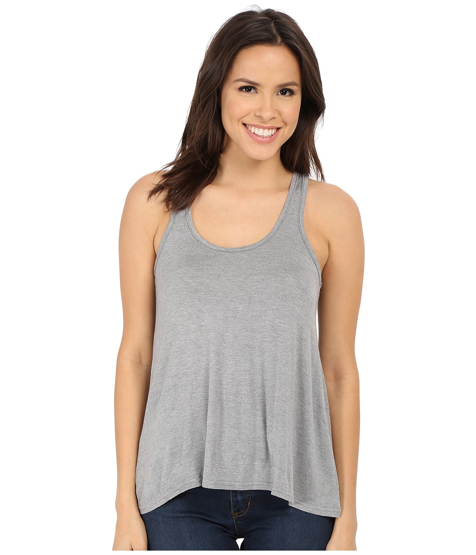 Splendid - Scoop Neck Drapey Tank Top (Medium Marled Heather) Women's Sleeveless