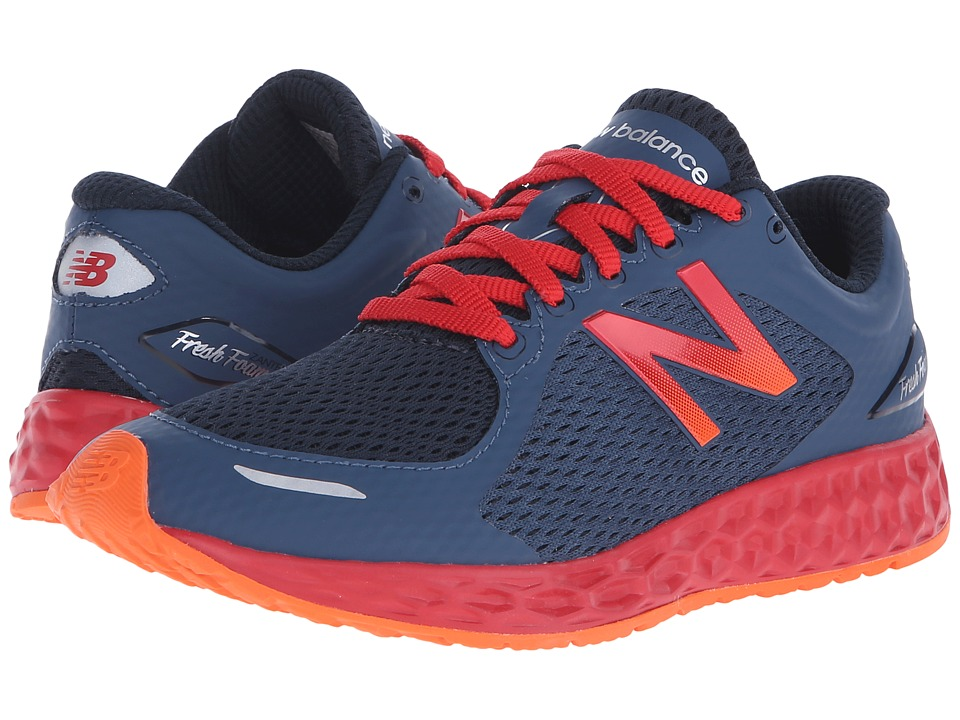 New Balance Kids - KJZNT (Little Kid/Big Kid) (Grey/Red) Boys Shoes