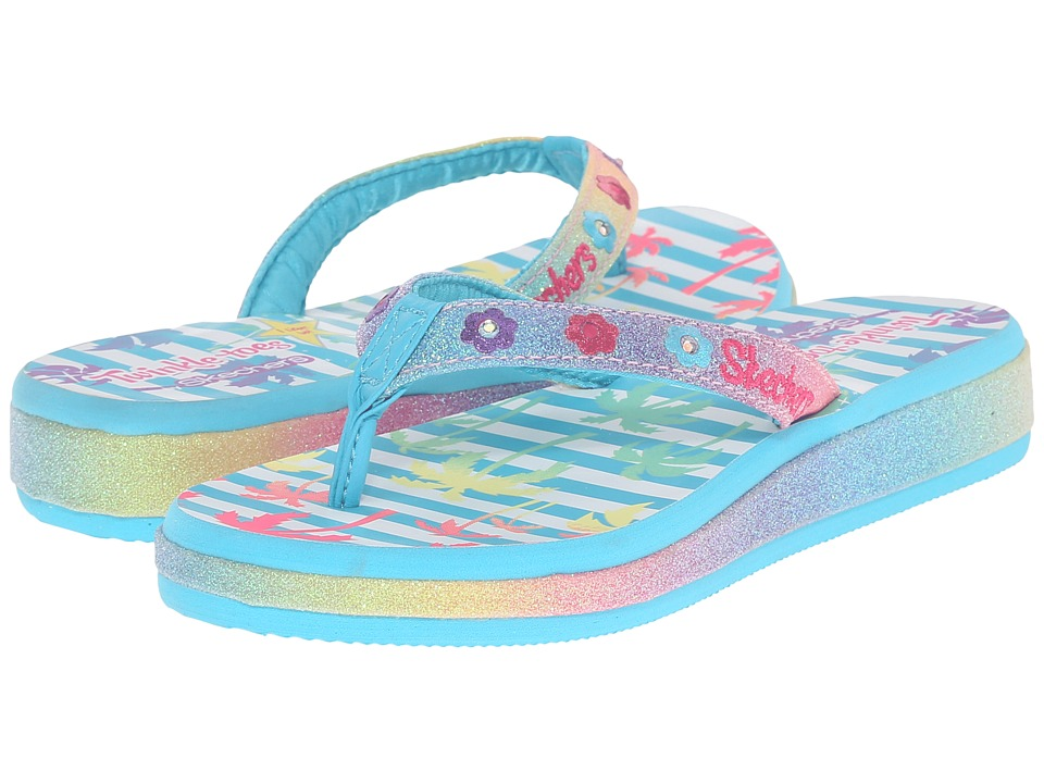 SKECHERS KIDS - Sunshines 10602L Lights (Little Kid) (Multi) Girls Shoes