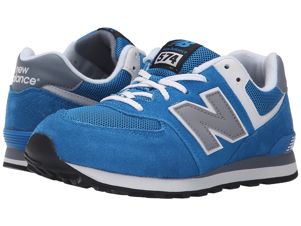 New Balance Kids - KL574 (Big Kid) (Blue/Grey) Boys Shoes