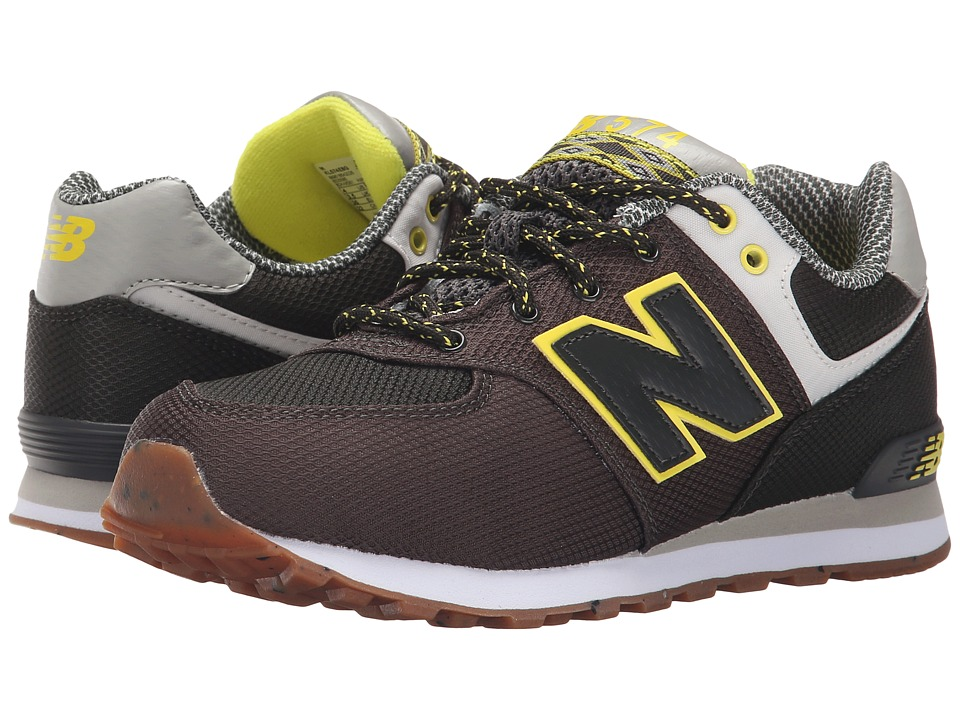 New Balance Kids - KL574 (Big Kid) (Green/Yellow) Boys Shoes