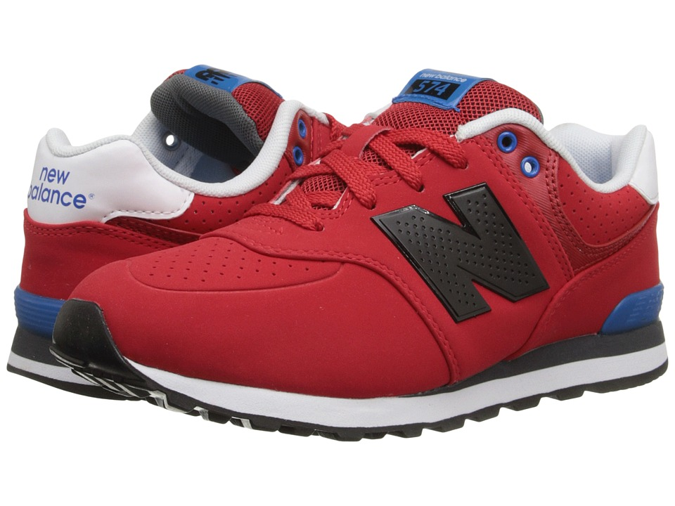 New Balance Kids - KL574 (Big Kid) (Red/Blue) Boys Shoes