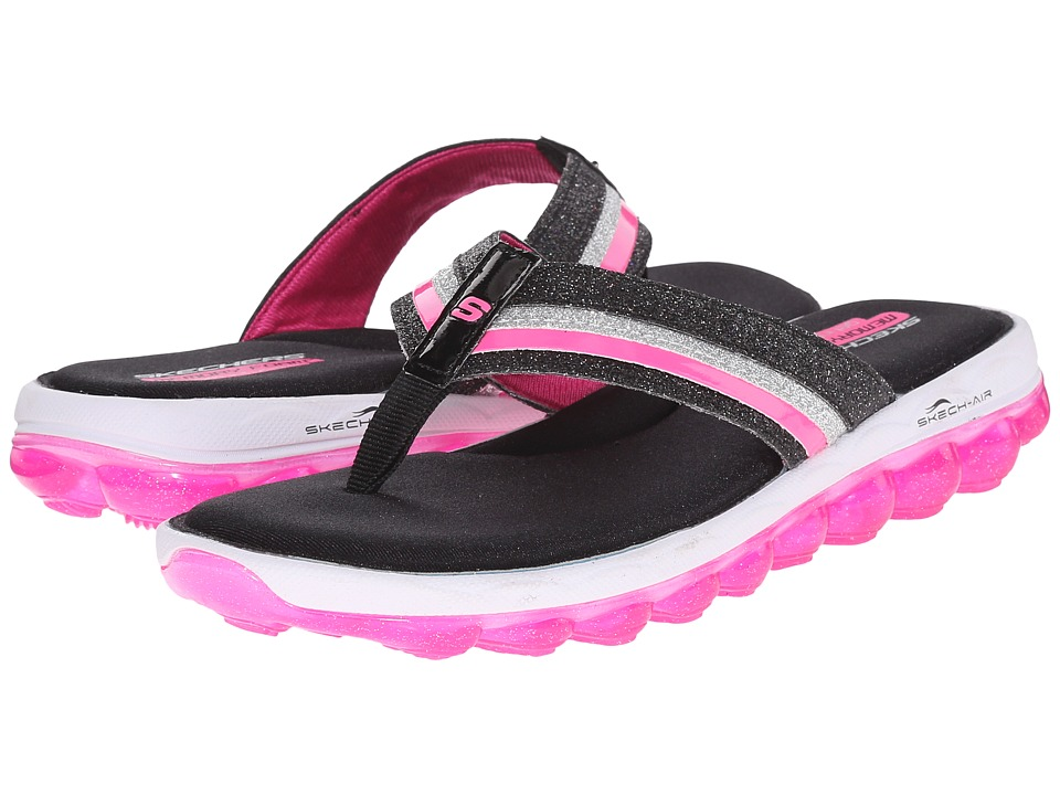 SKECHERS KIDS - Skech Air 80346L (Little Kid/Big Kid) (Black/Hot Pink) Girl's Shoes