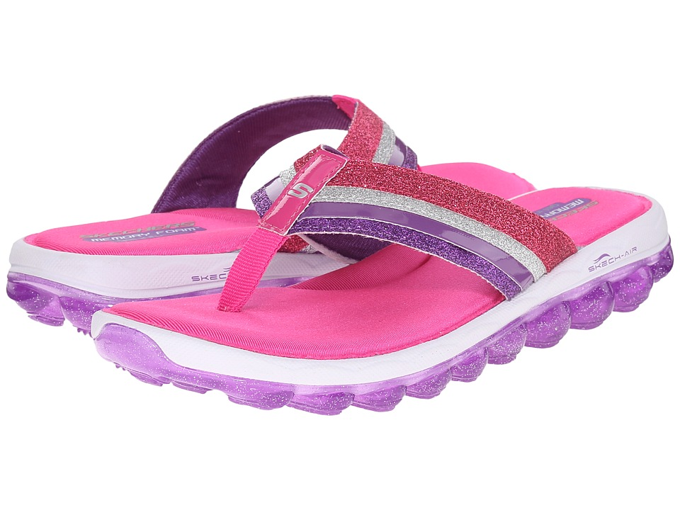 SKECHERS KIDS - Skech Air 80346L (Little Kid/Big Kid) (Hot Pink/Purple) Girl's Shoes