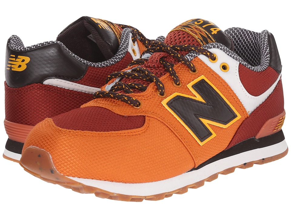 New Balance Kids - KL574 (Big Kid) (Orange 1) Boys Shoes