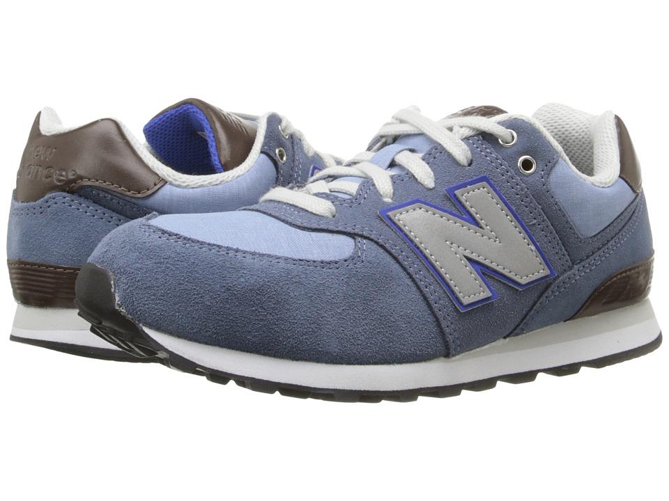New Balance Kids - KL574 (Big Kid) (Blue/Blue) Boys Shoes