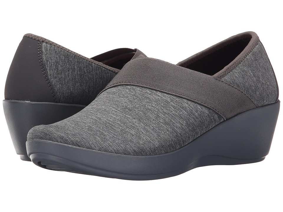 Crocs - Busy Day Heathered Asymmetrical Wedge (Dark Grey) Women