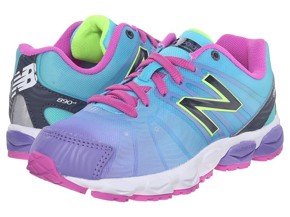 New Balance Kids - KJ890 (Little Kid) (Blue) Girls Shoes