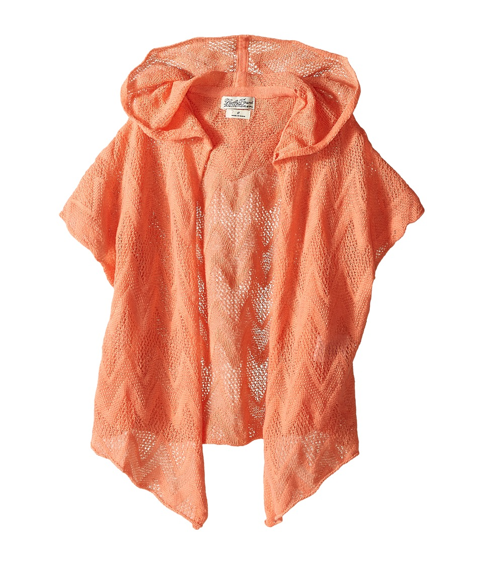 Lucky Brand Kids - Drapey Hooded Kimono (Little Kids) (Peach Pink) Girl's Blouse