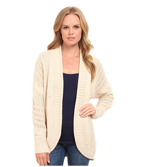 Pink Rose - Long Sleeve Color Block Sweater Cardigan (Heather Oatmeal) Women