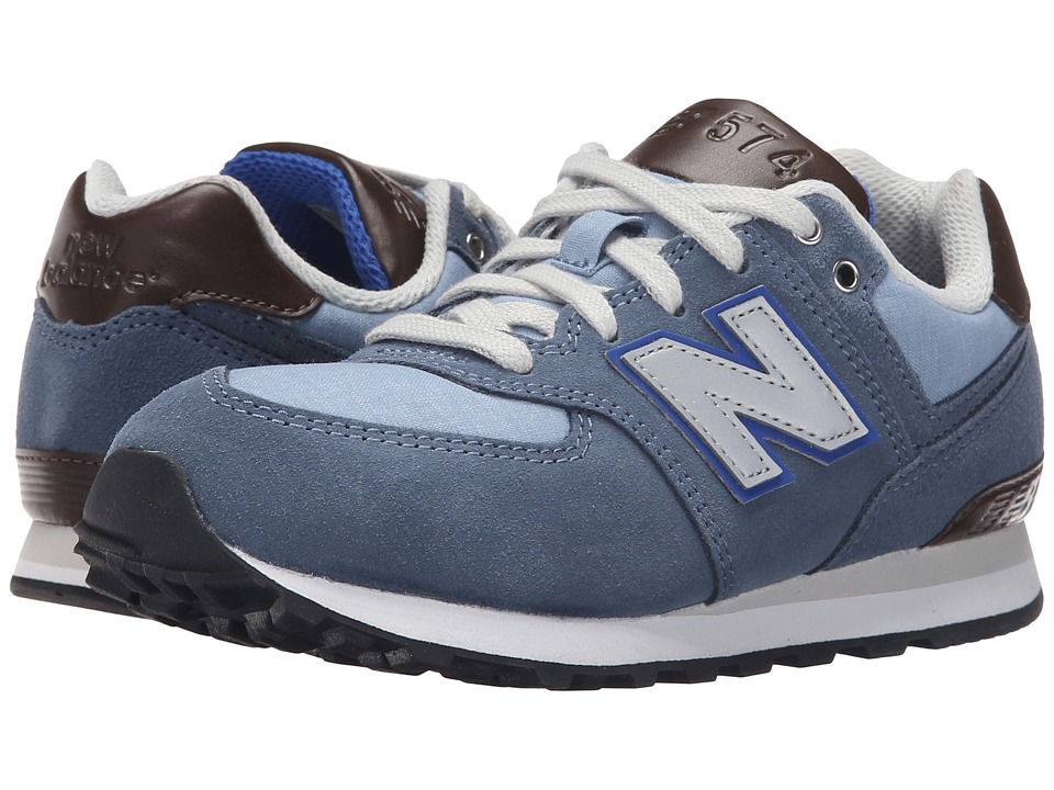 New Balance Kids - KL574 (Little Kid) (Blue Bell with Blue Fin) Boys Shoes