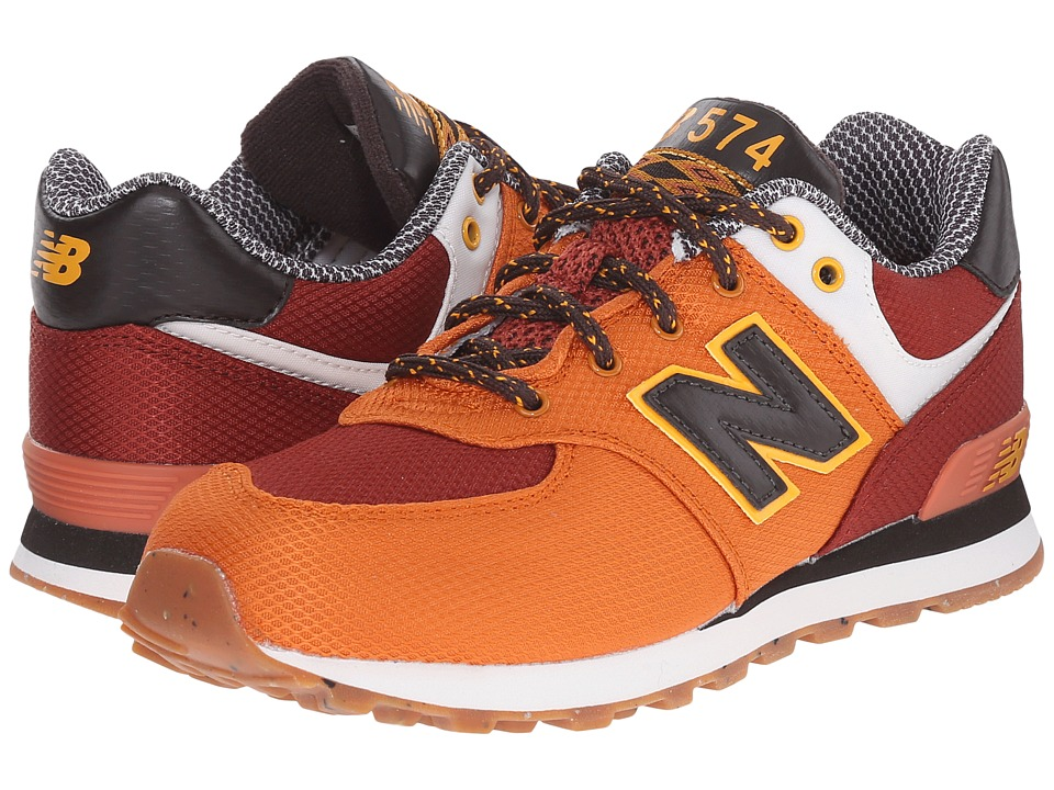 New Balance Kids - KL574 (Little Kid) (Orange) Boys Shoes