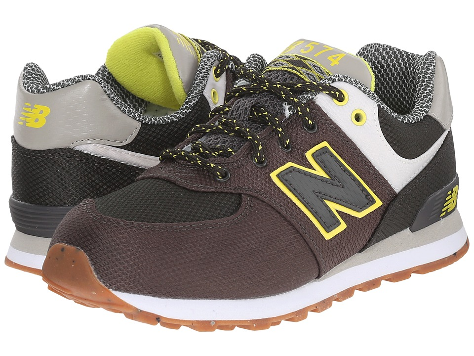 New Balance Kids - KL574 (Little Kid) (Green/Yellow) Boys Shoes