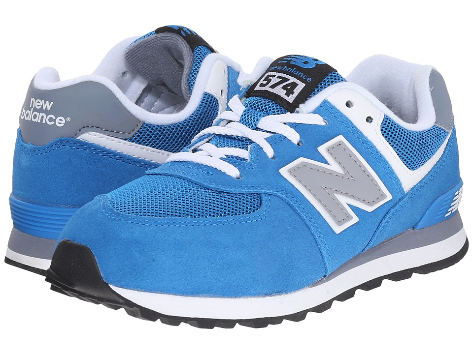 New Balance Kids - KL574 (Little Kid) (Blue/Grey) Boys Shoes