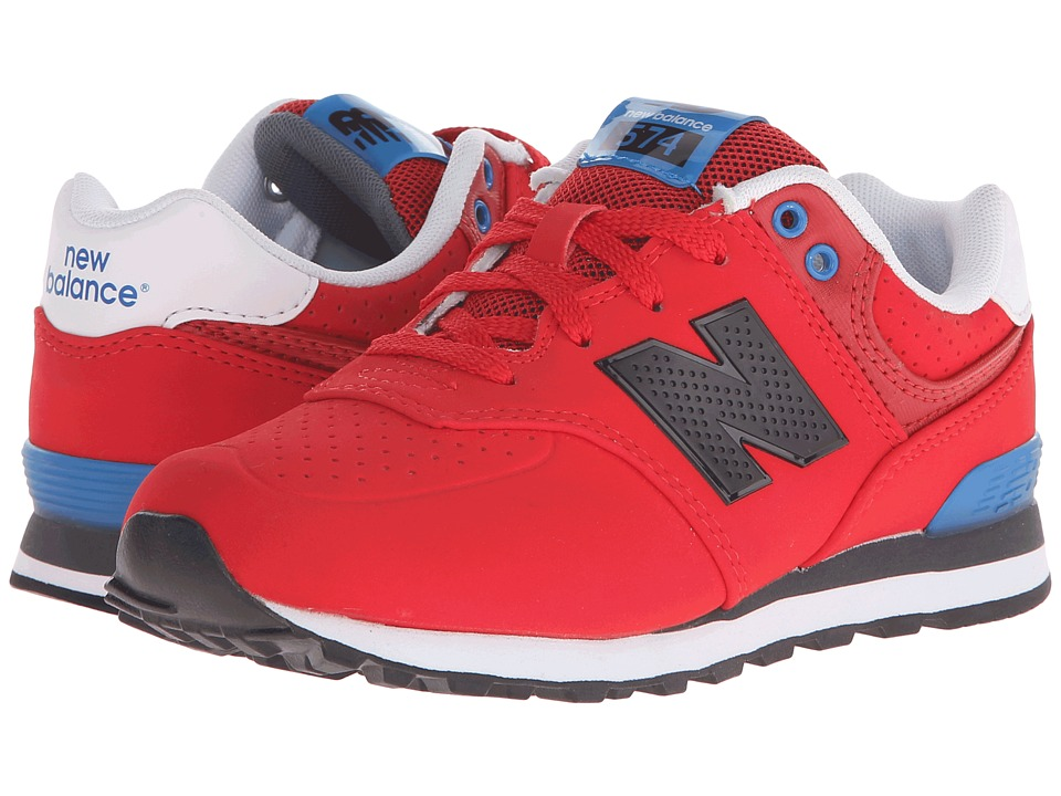 New Balance Kids - KL574 (Little Kid) (Red/Blue) Boys Shoes