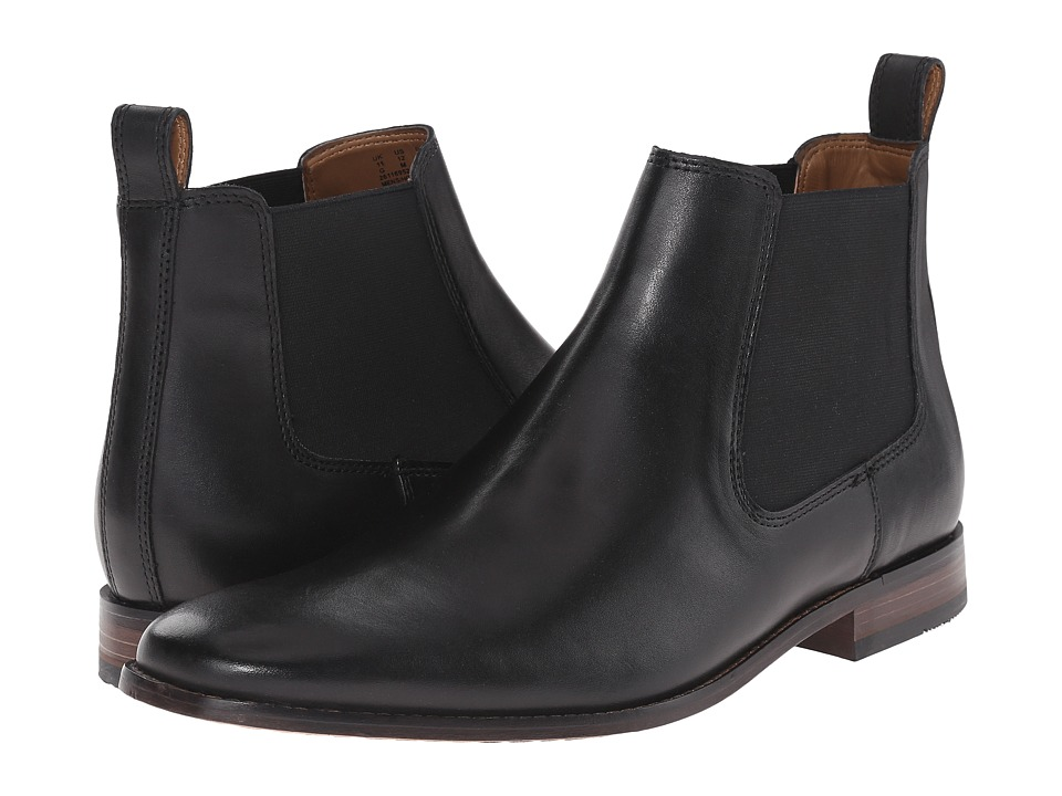 Bostonian - Narrate Plain (Black Leather) Men's Dress Pull-on Boots