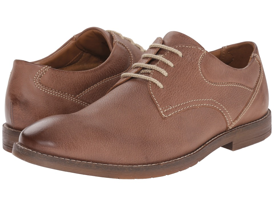 Bostonian - Verner Plain (Brown Leather) Men's Shoes