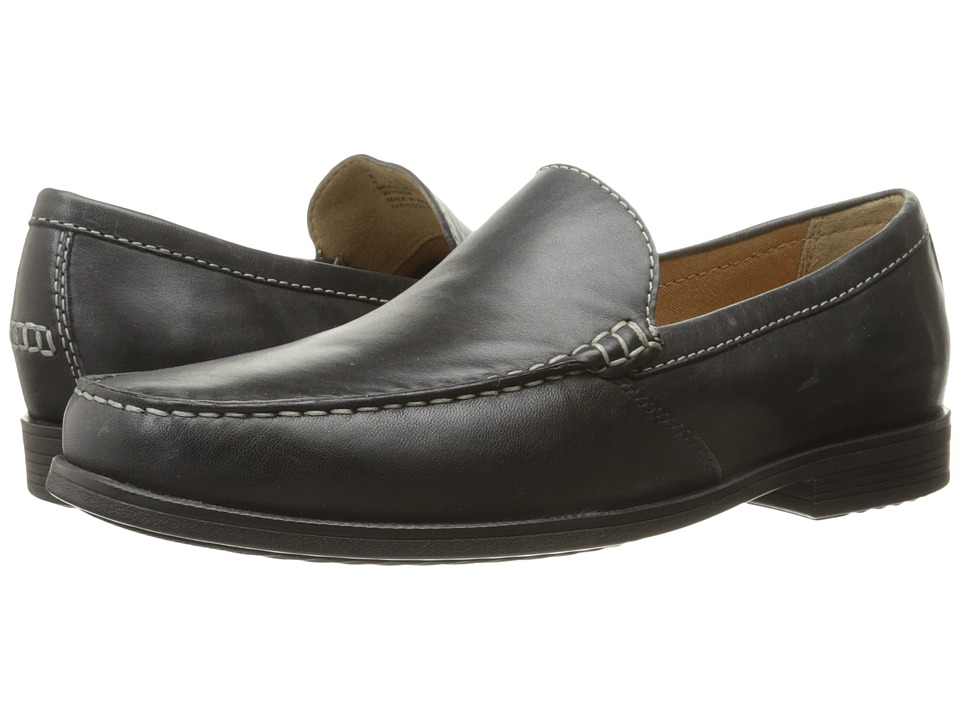 Bostonian Frayne Walk Black Leather Mens Slip on  Shoes