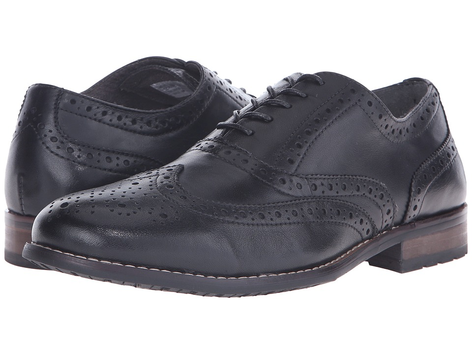 Nunn Bush - TJ Wingtip Oxford (Black) Men's Lace Up Wing Tip Shoes