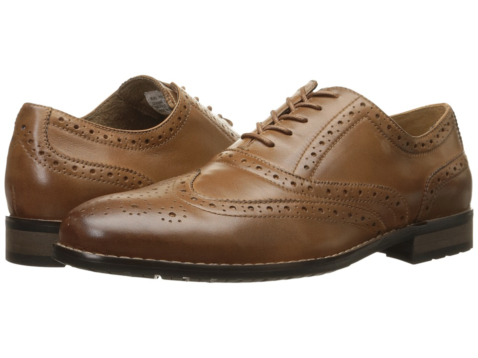 Nunn Bush - TJ Wingtip Oxford (Tan) Men's Lace Up Wing Tip Shoes