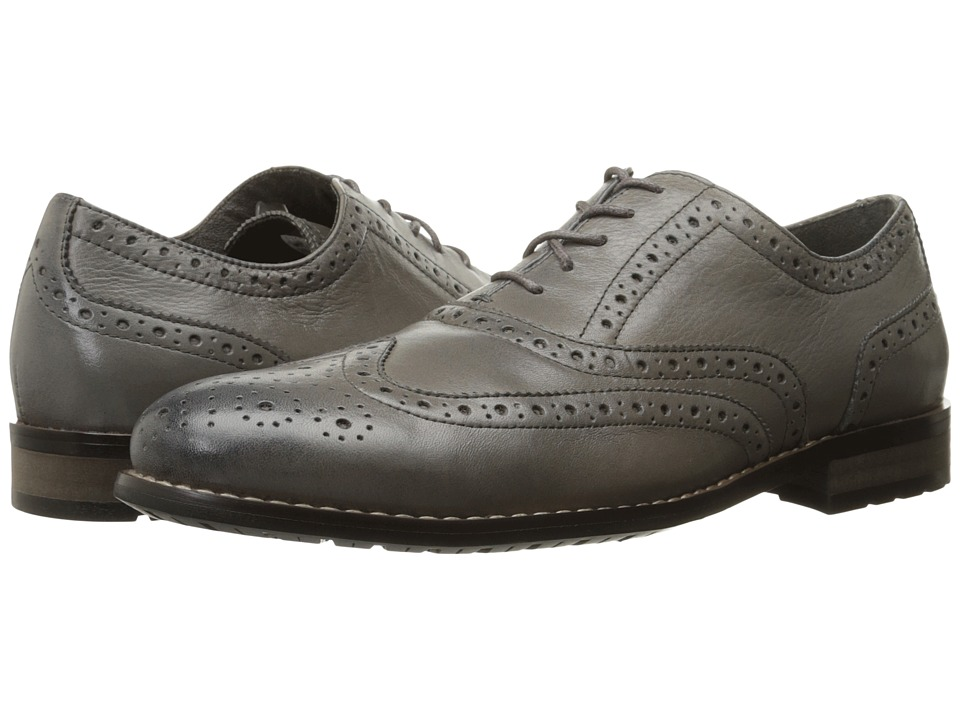 Nunn Bush - TJ Wingtip Oxford (Gray) Men's Lace Up Wing Tip Shoes