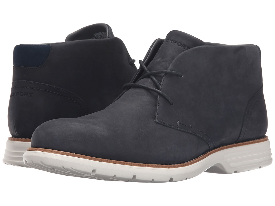 Rockport - Total Motion Fusion Desert Boot (New Dress Blues) Men's Dress Lace-up Boots
