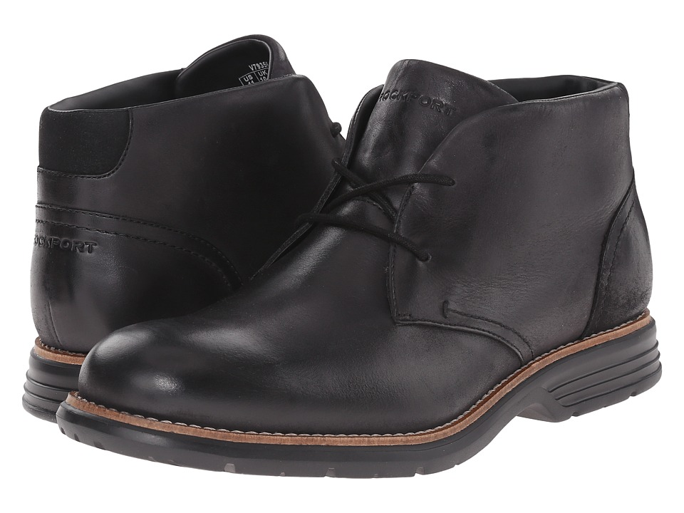 Rockport - Total Motion Fusion Desert Boot (Black) Men's Dress Lace-up Boots