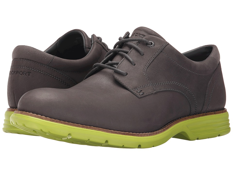 Rockport - Total Motion Fusion Plain Toe (Castlerock/Lime Punch) Men's Plain Toe Shoes