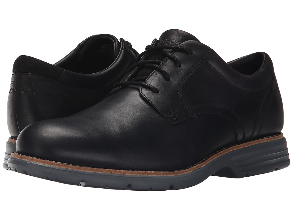 Rockport - Total Motion Fusion Plain Toe (Black) Men's Plain Toe Shoes