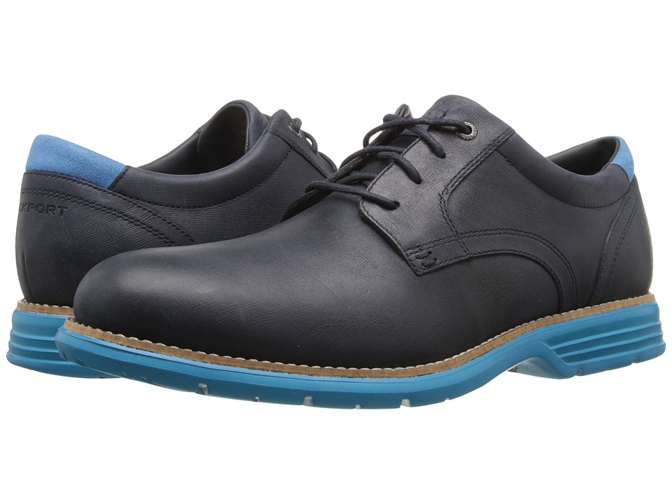Rockport - Total Motion Fusion Plain Toe (New Dress Blues/Met Blue) Men's Plain Toe Shoes