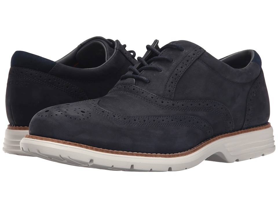 Rockport - Total Motion Fusion Wing Tip (New Dress Blues) Men's Lace Up Wing Tip Shoes