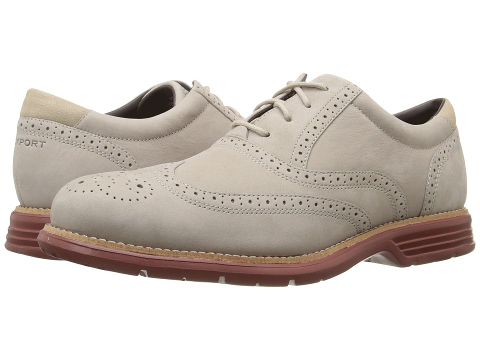 Rockport - Total Motion Fusion Wing Tip (Rocksand) Men's Lace Up Wing Tip Shoes