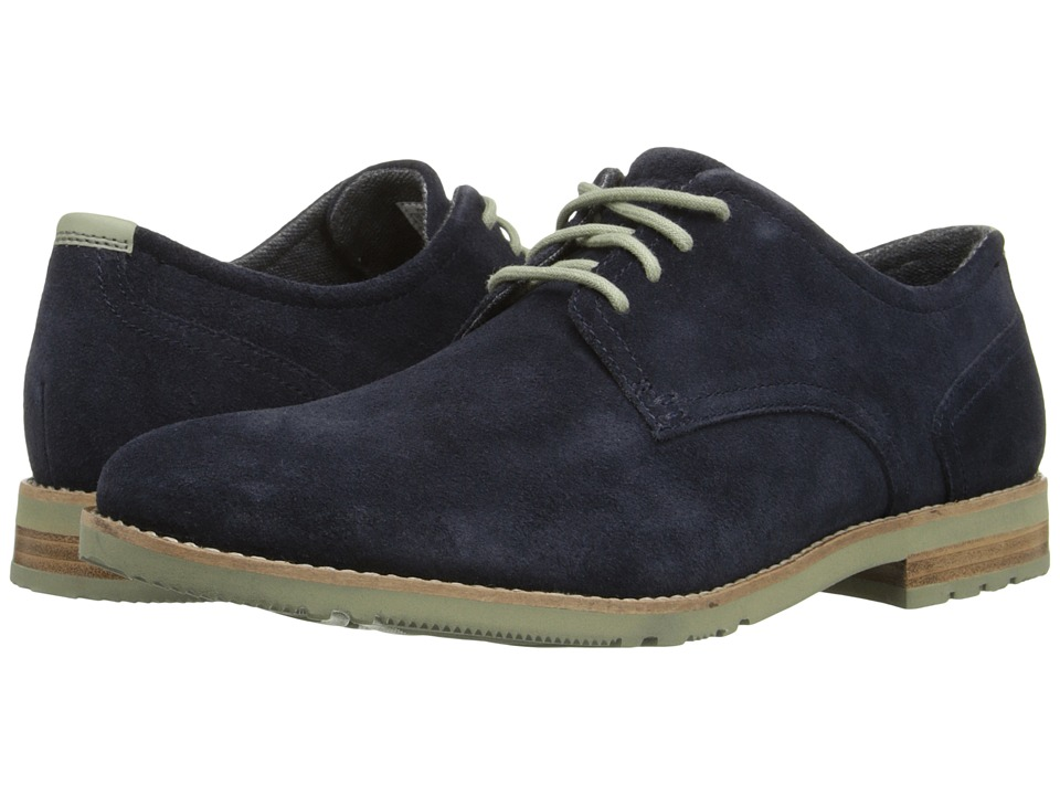 Rockport - Ledge Hill Too Plain Toe Oxford (Navy Suede) Men's Plain Toe Shoes