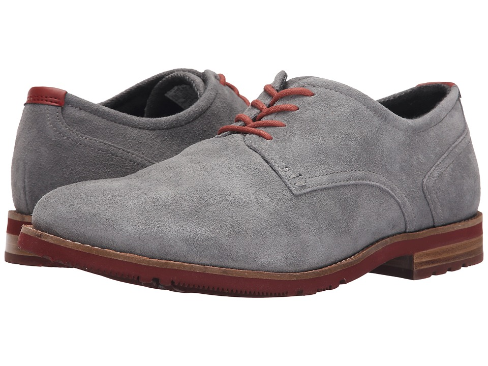 Rockport - Ledge Hill Too Plain Toe Oxford (Light Grey Suede) Men's Plain Toe Shoes
