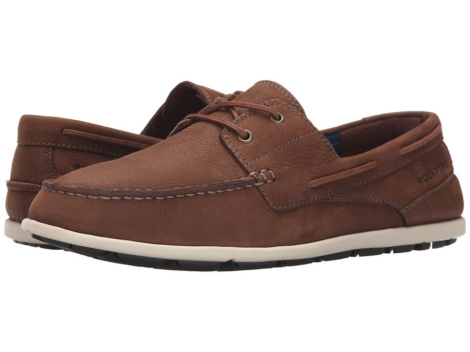 Rockport - Bennett Lane 3 Boat (Boston Tan) Men's Slip-on Dress Shoes