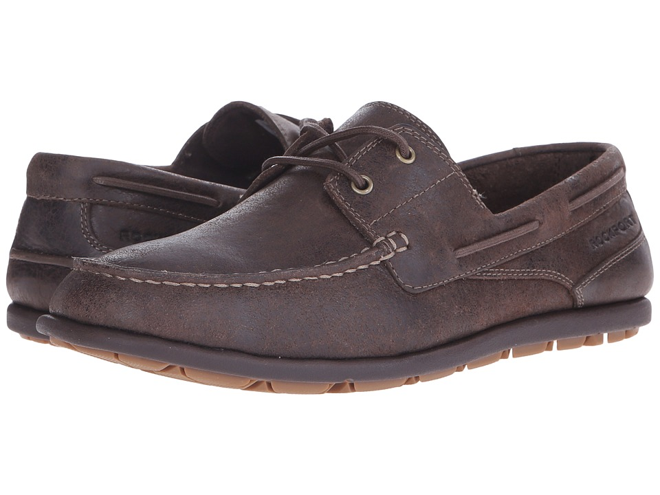 Rockport - Bennett Lane 3 Boat (Dark Bitter Chocolate) Men's Slip-on Dress Shoes