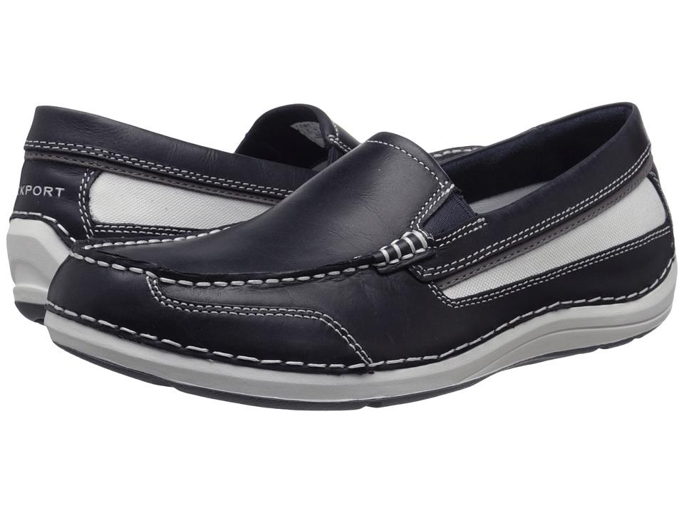 Rockport - Shoal Lake Slip-On (New Dress Blues Leather) Men's Slip on Shoes