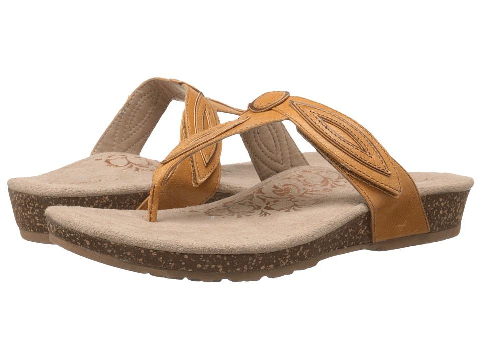 Aetrex - Terri (Mustard) Women's Sandals