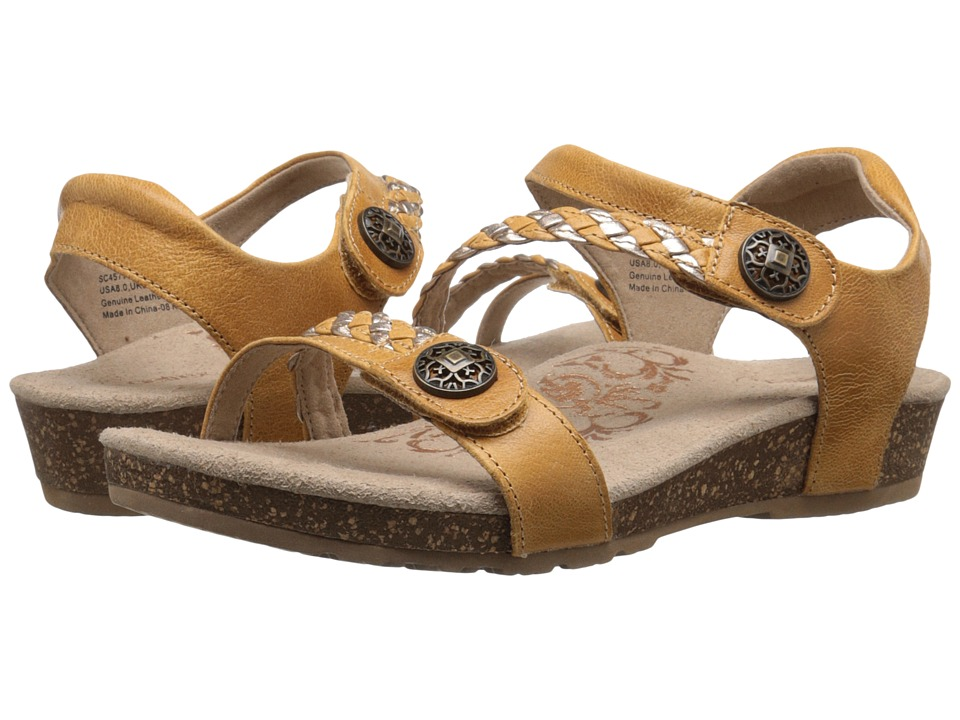 Aetrex - Jillian Quarter Strap (Mustard) Women's Sandals