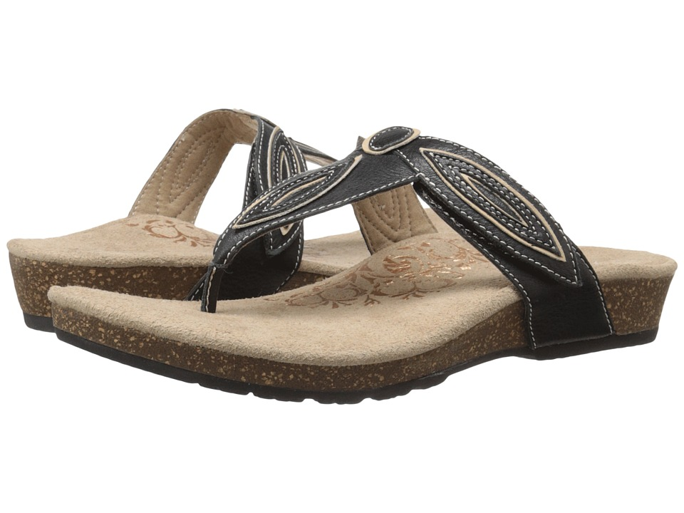 Aetrex - Terri (Black) Women's Sandals