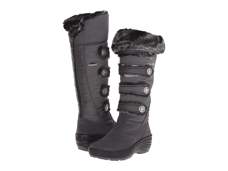 Pajar CANADA - Maureen Fur Boot (Charcoal) Women's Cold Weather Boots