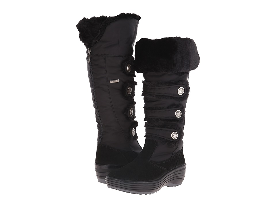 Pajar CANADA - Maureen Fur Boot (Black) Women's Cold Weather Boots